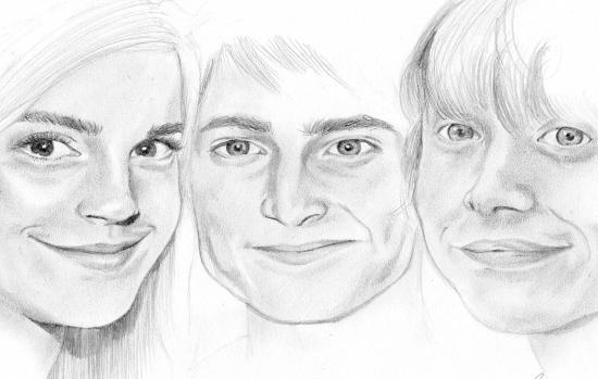 Rupert Grint, Daniel Radcliffe, Emma Watson par BengtIda